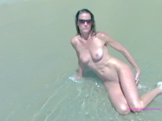 Wife Surprises Husband With A Threesome Nude Beach Day, Amateur Brunette Public Milf Pornstar