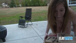 Complete Nude Public Dare Pizza Delivery Cam Girl Live Exhibitionist