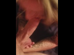 Wifey sucks cock and balls