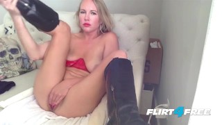 Sweet Blonde Cory Moore Orgasms With Hitachi