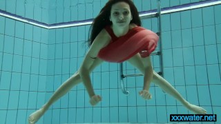 Red anna the teen hot in dress softcore poolside