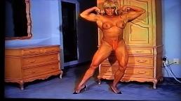Golden Thnong Topless Erotic Flexing in Heels by LDR (Sexiest Flexes Ever)