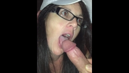 blowjob girl with glasses