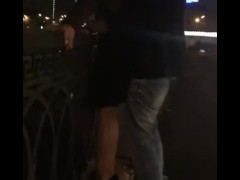 sasha_travka fucks on the waterfront in Moscow. Part 1