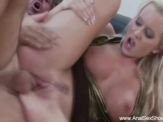 Boobie Blonde Goes Staright to Anal Sex
