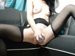 TOBI ATLANTIC ExxxtraSmall Slut creams on new sofa & get hardcore anal PT.1