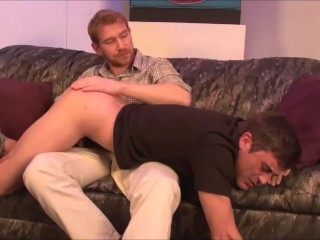 Henriette Surrenders All Her Holes To Two Obliging Guys