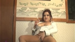 Smoking in Pantyhose Low - ALHANA WINTER - RS Vintage - BONUS Smoking Clip