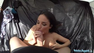 A cheating big boobed wife kate fucked anissa is in publicagent tent big outside