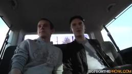 Dan Jenkins bangs with two skinny dick riders in the car
