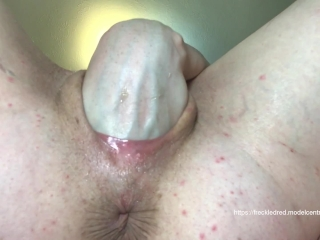 freckledRED Fits Her Whole Hand Up Her Vagina! Fisting Lovers Won't Want To Miss This!