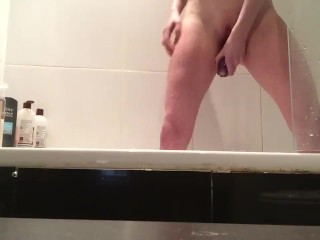 Shower orgasm with my dildo