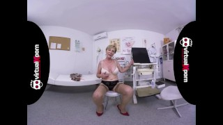 naughty blonde granny who waits for her doctor Riding teens