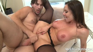 MILFGonzo Kendra Lust has her pussy impaled by young stud Tits mom