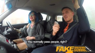 Fake Driving School Sexy emo gets her ass pounded and throat fucked Big reality