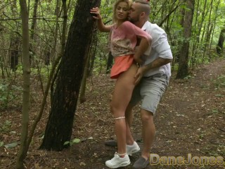 Dane Jones Naughty blonde gets ass eaten in secret outdoor blowjob and fuck