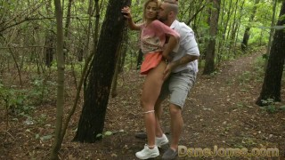 women tenacious his thick cum showered on her knees before dude drills her