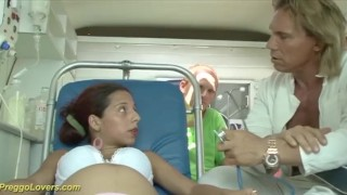 Preview 1 of pregnant ambulance bus fuck orgy