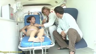 Preview 3 of pregnant ambulance bus fuck orgy