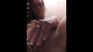 With dildo masturbation bathroom milf solo dildo