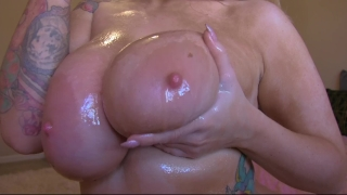 Oiled joi mom tits