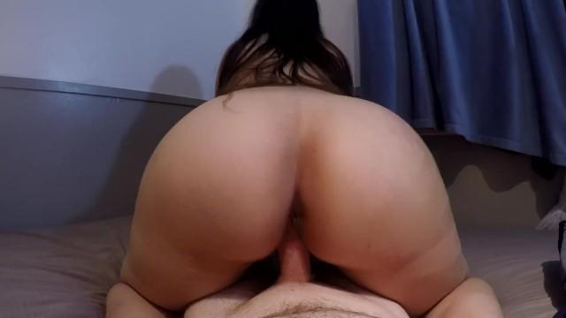 big ass brunette creampie