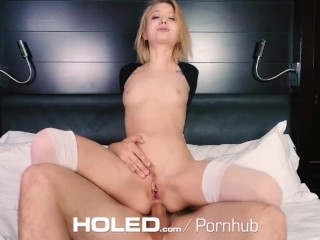 HOLED Anal pounding with petite blonde Dakota Skye