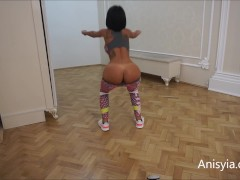 Anisyia Livejasmin naked butt workout rutine yoga pants