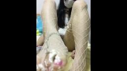 猫伪娘 奶油クリームCream Play urethra feet