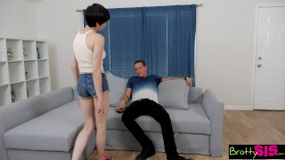 BrattySis - Little Step Sis Loves It Rough Pantyless flashing