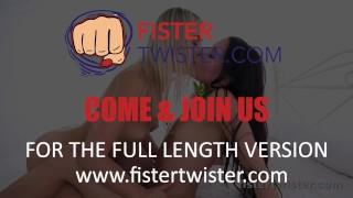 FisterTwister - Sexy blonde Cayla fist fucks her pretty dark haired friend