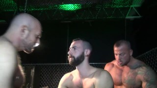 Preview 5 of Gaytanamo - Hairy muscle bareback prison threesome