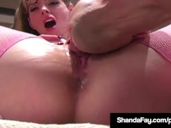 Hot Cougar Shanda Fay Creams On Hubby's Face After Oral Sex!