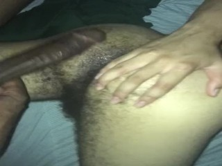 Hairy twink getting fucked by BBC