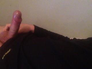 Rubbing cum all over my shirt! Cum control!