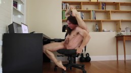 Gymnast Gets Naked at Office to Masturbate and Squirt