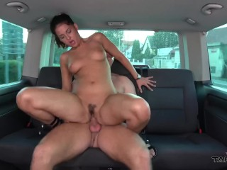 Hungarian whore sell her body for little ride in van