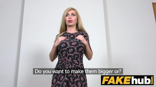 Facial big fake blonde gets tits russian a agent hot interview isabella