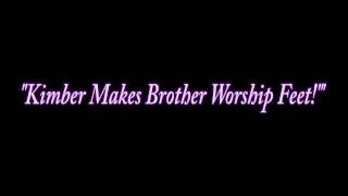 Teen Step Sister Kimber Lee Teases Step Brother With Feet! Girl mom