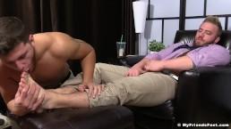 Marshall Coerced To Worship Boss Aaron Bruiser's Feet