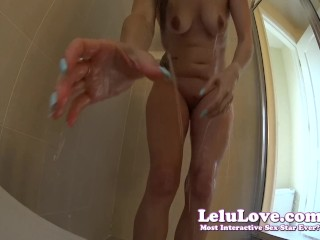 Lelu Love-Giantess Takes You Into Her Shower