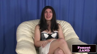 TS crossdressing enjoying hidden pleasures Striptease big