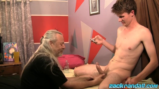 Gay sexy young Big daddy js wild cock massaging sexy twink aidan young