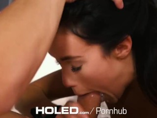 HOLED Pornstar Megan Rain anal fingered and fucked by thick dick