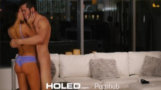 Preview 2 of HOLED Pornstar Megan Rain anal fingered and fucked by thick dick