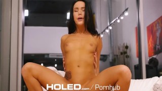 HOLED Pornstar Megan Rain anal fingered and fucked by thick dick Canadian cumshot