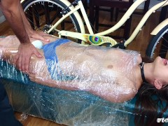 Plastic Wrapped & Face Fucked!