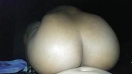 Big booty ebony rides dick