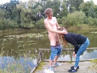 Rapper Party Pussy Scratching Blowjob am See