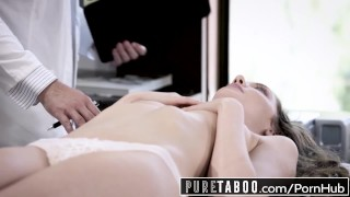 PURE TABOO Elena Koshka Breaks Hymen with Dirty Doctor Young view